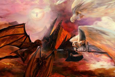 diavoli: Angeli e demoni Archivio Fotografico