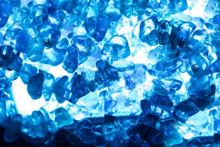 Closeup textured photo of a blue lightened quartz stones.