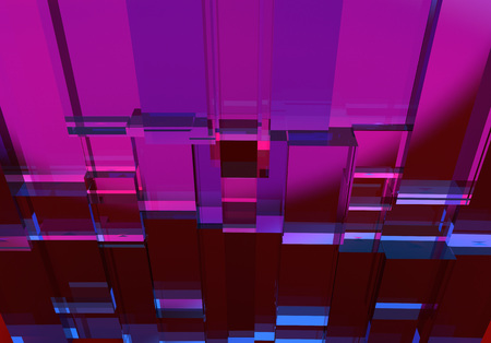 Purple with blue abstract three dimensional cube texture angle view. Stok Fotoğraf