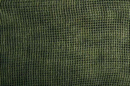 Texture photo of a green net scarf.