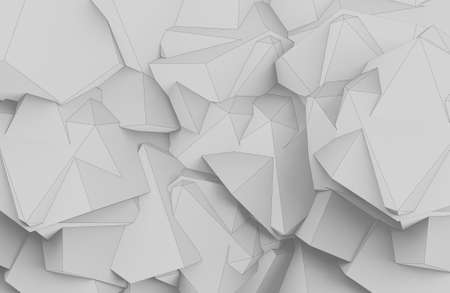 Abstract 3d render illustration of geometric shapes backdrop.