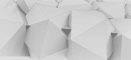 3d render illustration of lowpoly grey colored geometrical shapes texture.