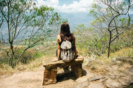 El Camino Real between Barichara and Guane in Colombia