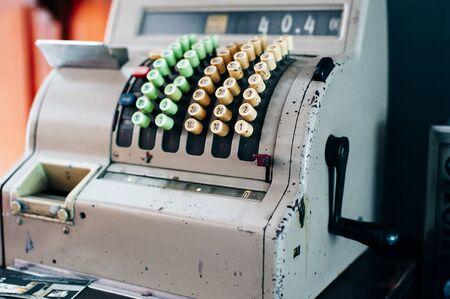 Old-time cash register in a shop