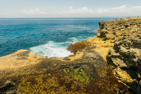 Devils tears cliffs at Nusa Lembongan island,