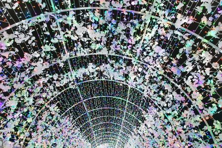 christmas tunnel of colourful lights from Glow Christmas