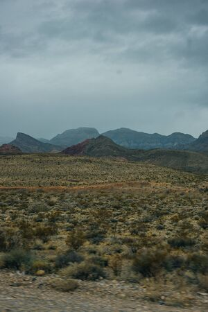 Rocky desert landscape, Red Rock Canyon National Recreation Area, Las Vegas, Nevada