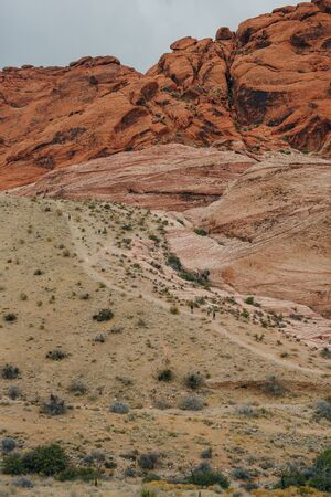 Rocky desert landscape, Red Rock Canyon National Recreation Area, Las Vegas, Nevada, USA