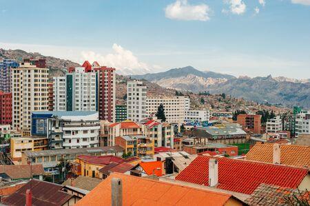 La Paz, Bolivia - April 2019 Cityscape of La Paz in Bolivia.