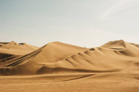 Paysage du désert de Huacachina. à Ica, Pérou