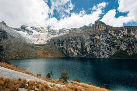 Nev Churup Summit and Laguna, Huascaran National Park in the Andes, South America