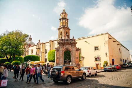 San Francisco Church, Templo de San Francisco - Queretaro, Mexico - sep, 2019.