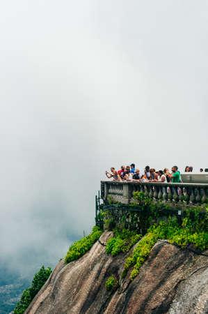 The Christ the Redeemer statue a top the Corcovado Mountain in Rio de Janeiro, Brazil