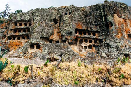 Archaeological center of the Ventanillas de Otuzco in Cajamarca, PERU. Stock Photo