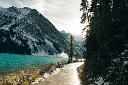 Lake Louise, Banff National Park, Alberta, Canada . This glacially fed lake is one of the most magnificent and popular lakes in Alberta, Canada.