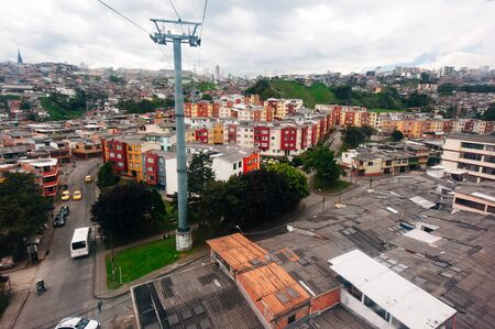 Beautiful high angle view of Manizales city in Colombia coffee zone, South America. Stock fotó