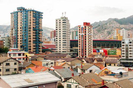 La Paz, Bolivia - April 2019 Cityscape of La Paz in Bolivia. Stock fotó