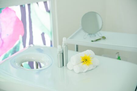 massage room in spa saloon.