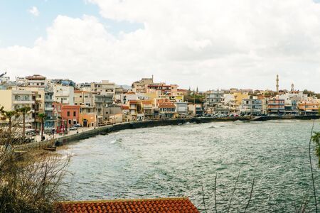 Chania Harbour. Beautiful venetian port with boats.