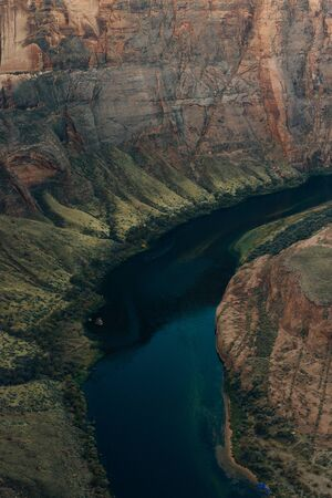 Horseshoe Bend in Glen Canyon National Recreation Area in early dawn