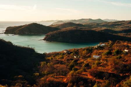 Colorfull panoramic view of bay san juan del sur, nicaragua