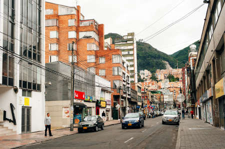 BOGOTA, COLOMBIA, JUNE, 2019: Street scene in Bogota, Colombia, South America.
