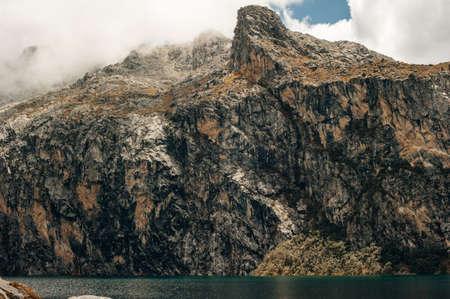 Nev Churup Summit and Laguna, Huascaran National Park in the Andes, South America Reklamní fotografie - 150706080