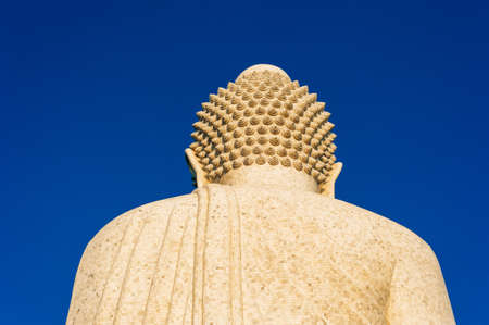 nape of The 45-meter big jade Buddha image on top of the hill - a perfect place for spotting view of Phuket Banco de Imagens