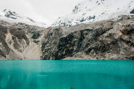 Majestic view of Laguna 69 in Huaraz Peru Banco de Imagens - 151369339