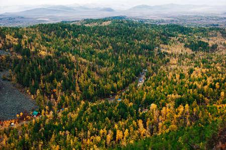 Taiga. Alkhanay national park, Agin-Buryat District, division of Zabaykalsky Region, Russia Reklamní fotografie
