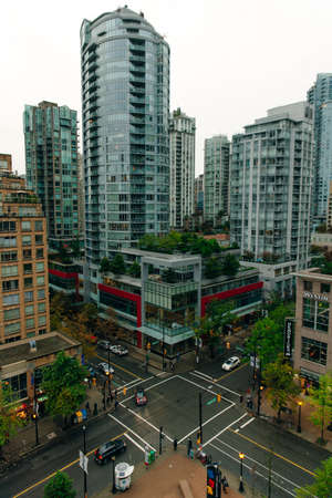Vancouver BC, Canada View of downtown at big megapolis