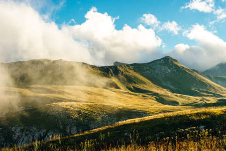 Mountains of Republic of Adygea, Russia. Caucasian mountains. Mountain Lake. Lagonaki. Stok Fotoğraf