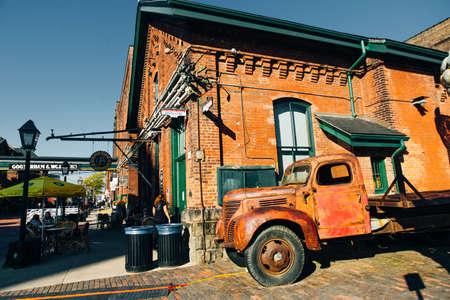 TORONTO, CANADA - november, 2019 Distillery District former Gooderham Worts Distillery.