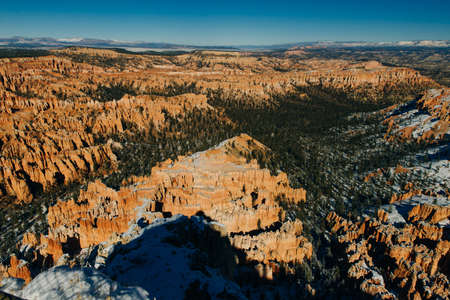 Wide angle view of Bryce Canyon National Park at Sunrise, Colorado, USA.
