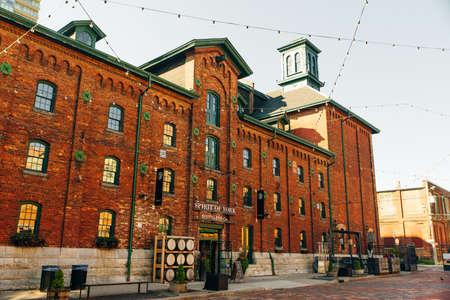 TORONTO, CANADA - november, 2019 Distillery District former Gooderham Worts Distillery Editorial