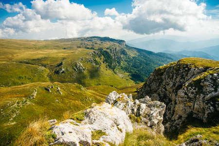 Mountains of Republic of Adygea, Russia. Caucasian mountains. Mountain Lake. Lagonaki.