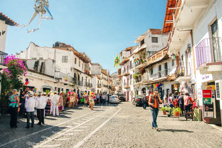 TAXCO, MEXICO - DECEMBER 2019 The downtown of the city.