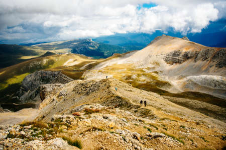 Mountains of Republic of Adygea, Russia. Yavorova Polyana. Walking route and beauty of Adygea. Caucasian mountains. The Caucasian reserve. Caucasian ridge. Mountain Lake. Lagonaki Banco de Imagens - 151431699