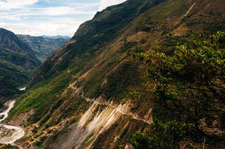 Landscape of Urubamba Valley at Machu Picchu Remains. Stock fotó