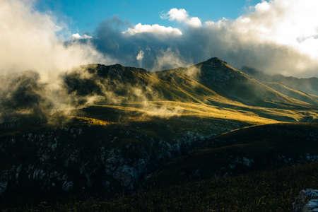 Mountains of Republic of Adygea, Russia. Yavorova Polyana. Walking route and beauty of Adygea. Caucasian mountains. The Caucasian reserve. Caucasian ridge. Mountain Lake. Lagonaki