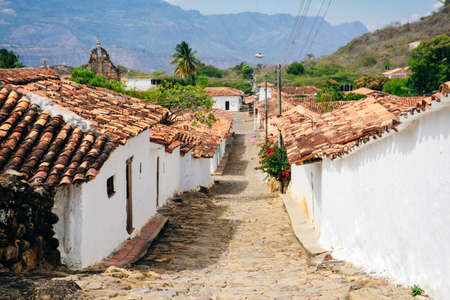 view of the colonial village of Guane, near Barichara