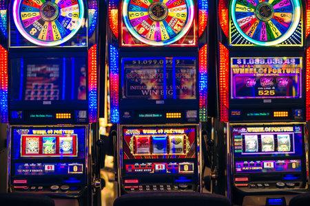 Las Vegas, USA - december, 2019 : slot machines in aeroport