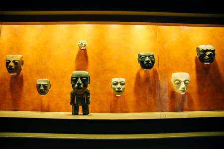 MEXICO CITY - JULY, 2019: Interior of National Museum of Anthropology