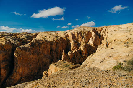 Panoramic view of Fire Canyon Silica Dome in Valley of Fire State Park, Nevada United States Reklamní fotografie