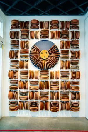 Mexico City - December 2019 installation from plates in Popular Art Museum, Mexico Redakční
