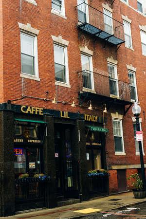 BOSTON, USA - october, 2019 Little Italy in Boston