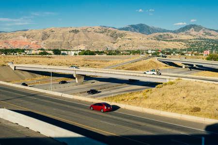 KANSAS CITY, USA - JUNE 2018 Freeways in Kansas City, Missouri