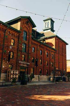 TORONTO, CANADA - november, 2019 Distillery District former Gooderham Worts Distillery