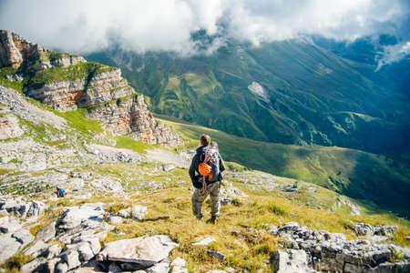 tourists Caucasian biosphere reserve, republic of Adygea, Russia Stok Fotoğraf