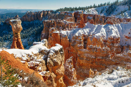 Beautiful view of the spectacular Hoodoo rock spires of Bryce Canyon, Utah, USA